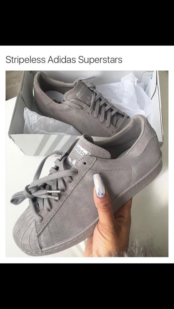 adidas superstar grey feather