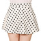 Womens ladies retro polka dot high waist a line full flared mini skater skirt | ebay