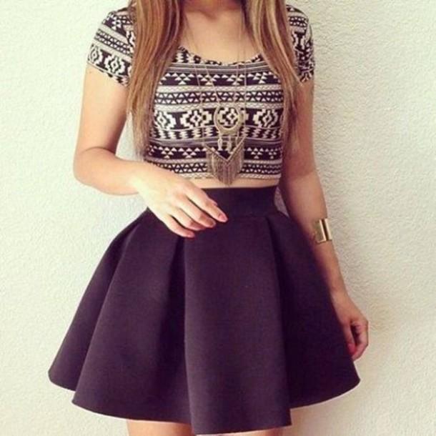 Dress top skirt black skirt poofy skirt tumblr skirt for T shirt dress outfit tumblr