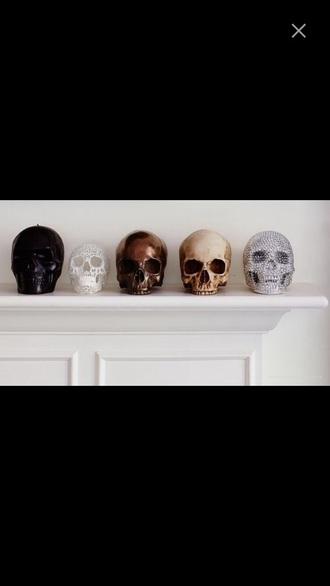 home accessory dekoration head gold black white silver home decor skull skull heads bronce