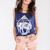 Do All Things With Love Top - Navy