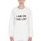 "I am on the list"" cotton sweatshirt"