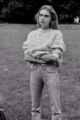 sweater cara delevingne oversized sweater knitted sweater
