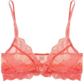 underwear bra red red bra lace lace bustier lace bra coral coral bra cute