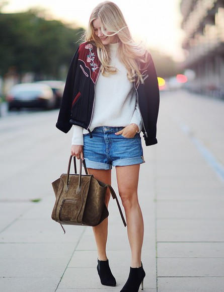 denim shorts bag blogger passions for fashion jewels