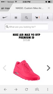 sneakers,hot pink. nike airmax 90 hyperfuse