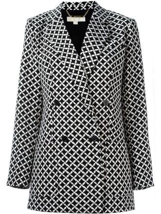 jacket women spandex black houndstooth