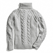 Coach :: HANDKNIT ARAN POLO NECK SWEATER