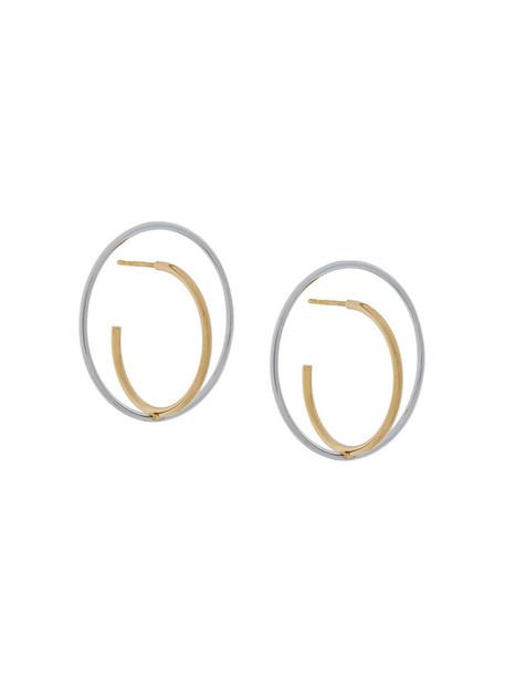 Charlotte Chesnais women earrings silver grey metallic jewels
