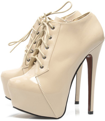 AX PARIS NUDE FRONT PLATFORM LACE UP SHOE on The Hunt