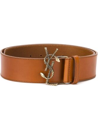 belt yves saint laurent leather buckles