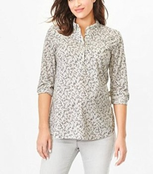 Gap Maternity Fitted Boyfriend Floral Popover Shirt