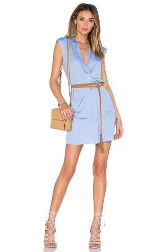 dress shirt dress sleeveless blue