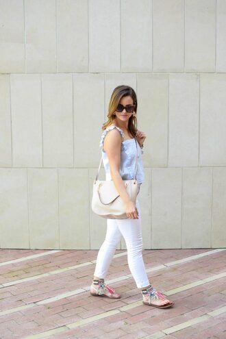 live more beautifully blogger tank top dress shoes jewels make-up sunglasses