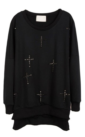 large sweater cross rock