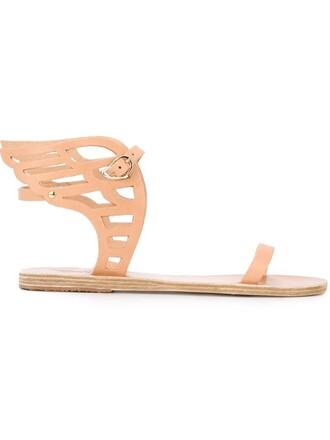 sandals lace nude shoes