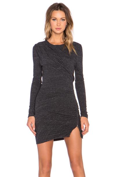 Pam & Gela dress knit charcoal