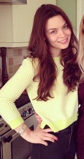 sweater,lemon,scarlett byrne,yellow,blouse,jumper