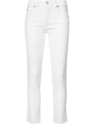 jeans cropped jeans cropped women white cotton