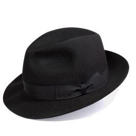Chapeau feutre borsalino   classique  noir