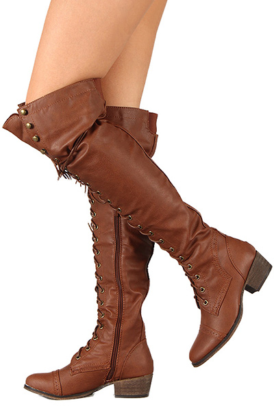 1d4a4d5816ca New Women's Over The Knee Thigh High Lace Up Military Combat Boots  ALABAMA-12