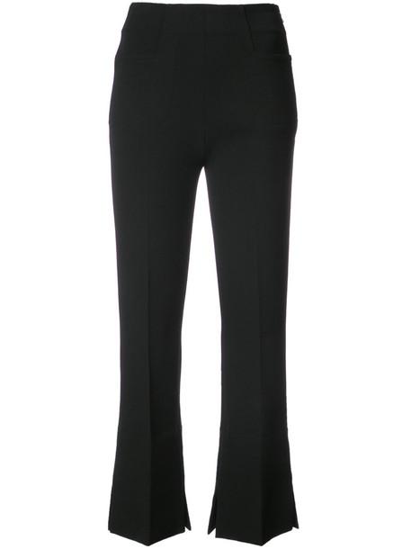 Roland Mouret women spandex black pants