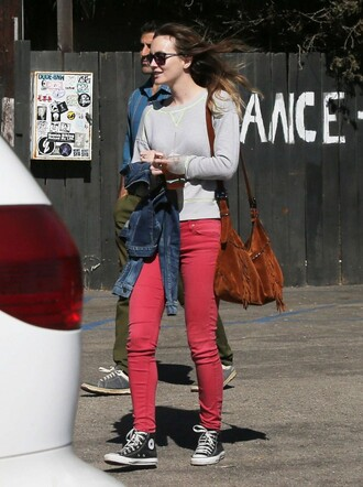 sneakers all star converse leighton meester jeans