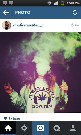 sweater thatloud dopefam jumper marijuana grey