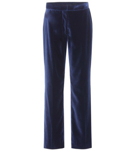 Stella McCartney velvet blue pants