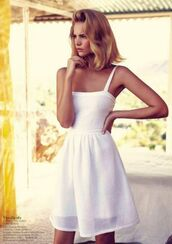 dress,white dress,white,skater dress,bodycon dress,summer dress,ribbed dress