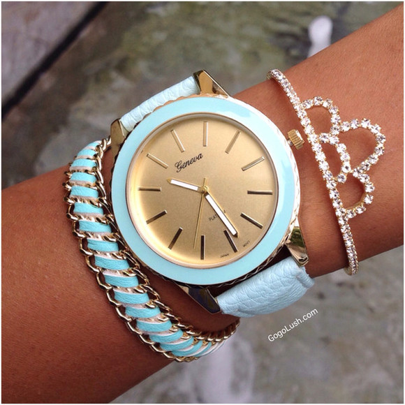 mint jewels cute gold bangles tiara studs sparkle bracelets leatherette