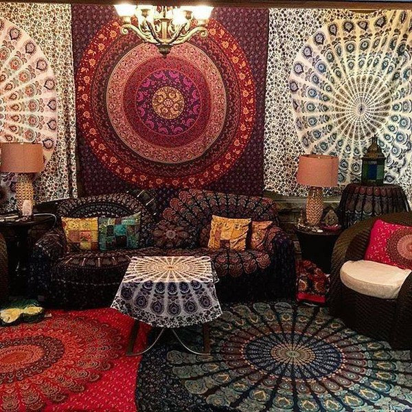 Home Accessory Tapestry Magical Night Star Mandala
