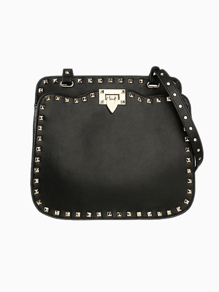 Rivet Two Ways Bag In Black | Choies
