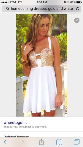 dress gold & white