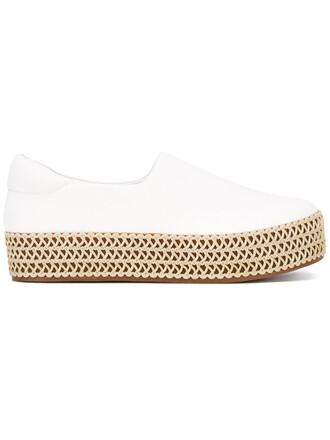 women espadrilles leather white cotton shoes