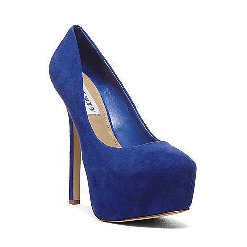 DEJAVU BLUE SUEDE women's dress high platform - Steve Madden
