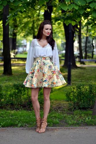 my silk fairytale blogger shirt skirt shoes