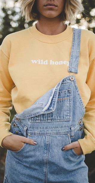 top yellow top sweatshirt cute