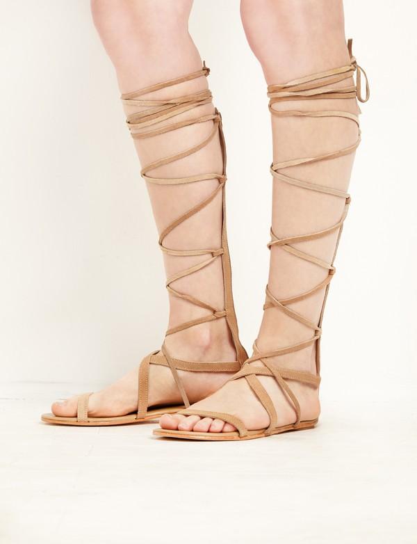 Matisse Natural Suede Atlas Gladiator Sandals