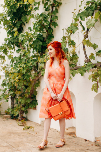 the clothes blogger leather bag orange