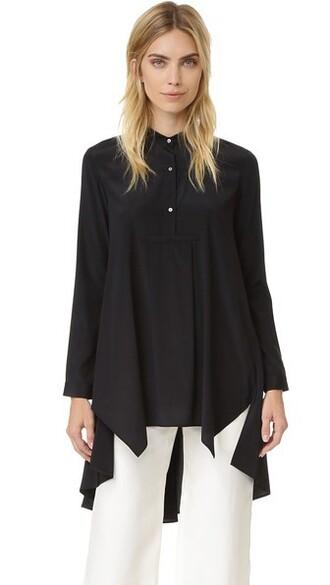 shirt high black top