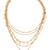 Luv Aj The Moonstone Multi Charm Necklace - Antique Gold