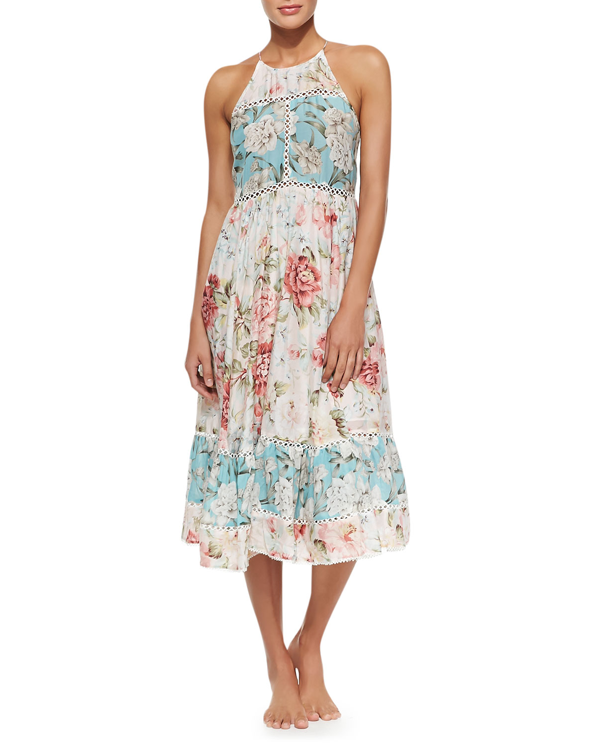 Georgia Floral-Print Sundress Coverup