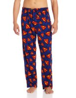 "Amazon.com: Classic ""Superman"" Men's short-sleeve, long leg pajamas in Blue: Clothing"