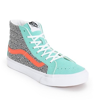 shoes mint green shoes geometric vans