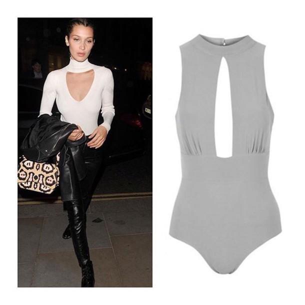 711ac89bbab909 top queen clothing uk bella hadid bella and gigi bodysuit keyhole bodysuit  celebrity style