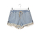 Chloé light blue frayed denim shorts