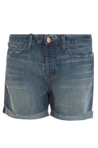 shorts boyfriend blue