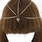 Boho triangle charm gold headpiece