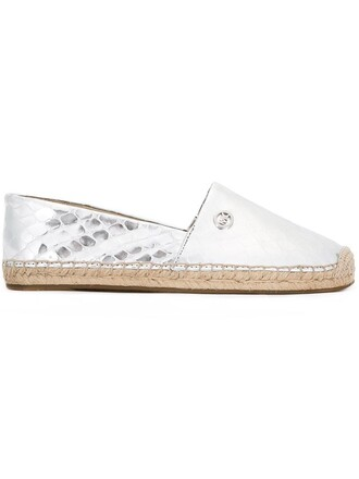 women espadrilles leather cotton grey shoes